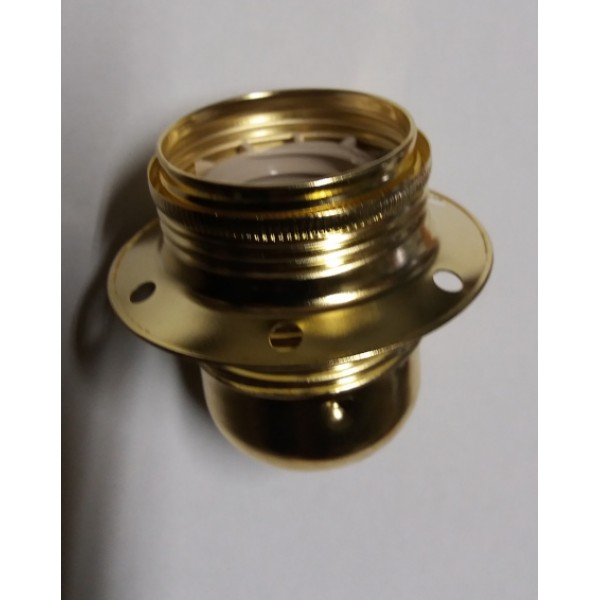 Ντουί Ε27 μεταλλικό χρυσό με ροδέλα